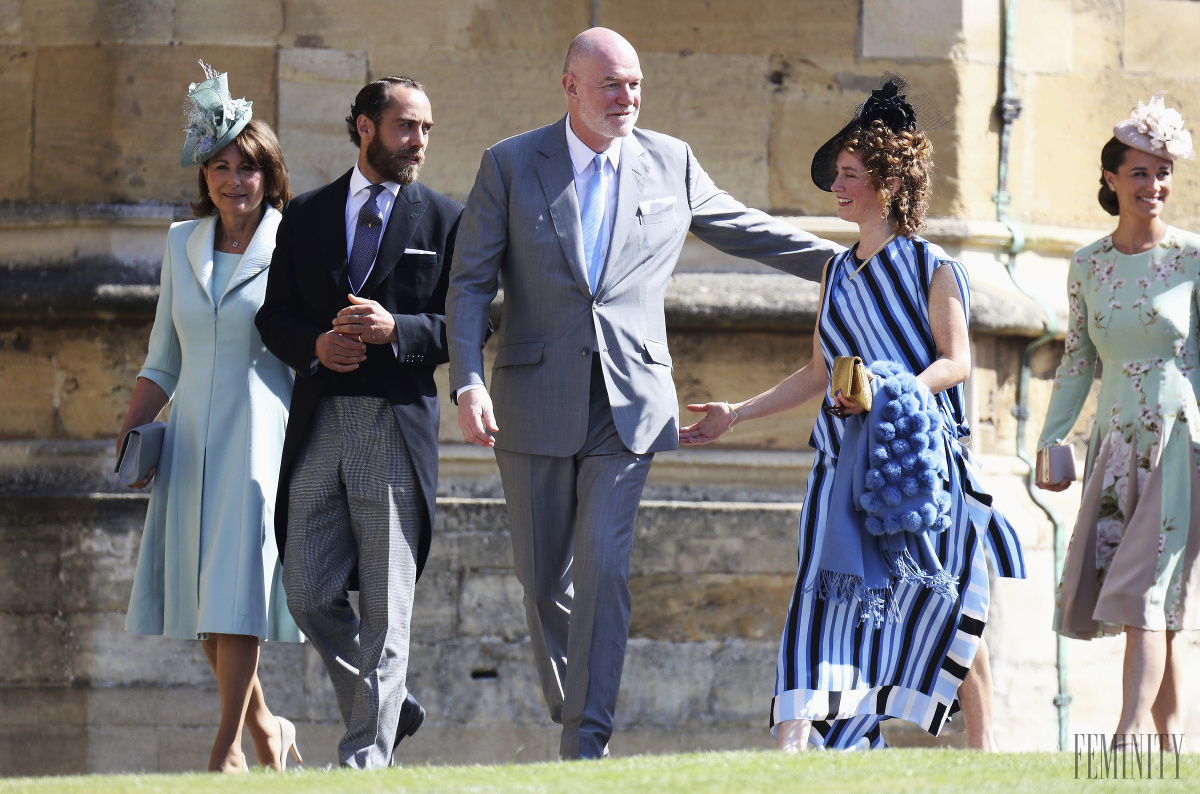 Carole Middleton, mama Kate Middleton prichádza na svadbu