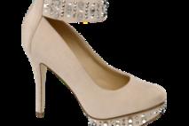 cd6ce5b691 ... Telové sandáliky so zdobeným remienkom sú ako stvorené na výnimočné  večerné udalosti · Vykrojené čierne topánky ...