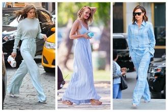 Baby blue je farbou tejto sezóny! Odtieň, ktorý by nemal chýbať vo vašom letnom šatníku