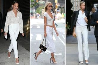 Biele nohavice sú späť a vy si ich zamilujete vďaka ich novému prevedeniu: Inšpirujte sa skvelými outfitmi