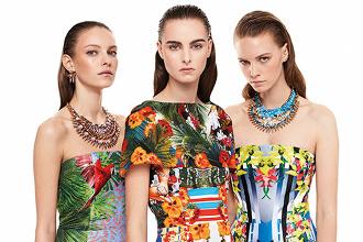 Najkrajšie šaty na jar 2014  Kvetinové potlače a2dc45c088a