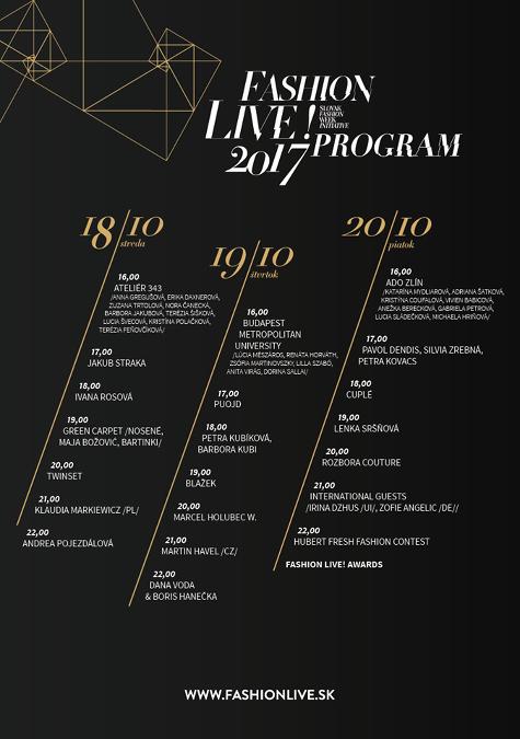 Program Fashion LIVE! 2017