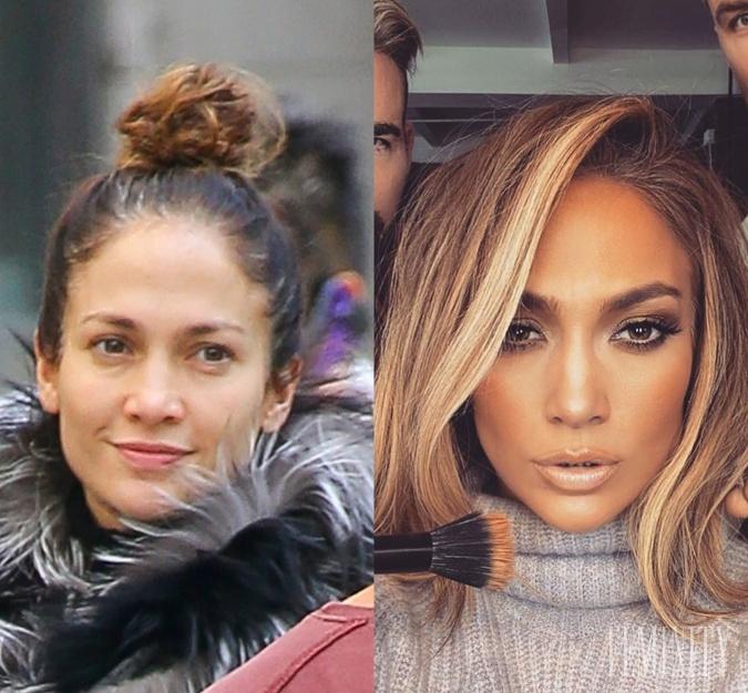 Jennifer Lopez je krásna žena aj bez make-upu, ale záľubu v retuši má i ona