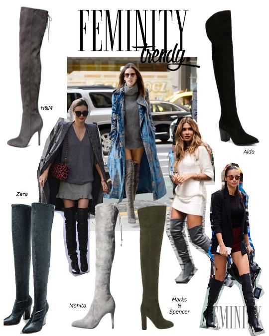 0ede9cb69b Čižmy nad kolená nikdy nevyjdú z módy  Dodajú outfitu kus ženskosti ...