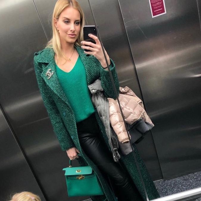 ef7d33c4d Misska Denisa Mendrejová si užíva počas chladných dní práve podmanivú  zelenú farbu