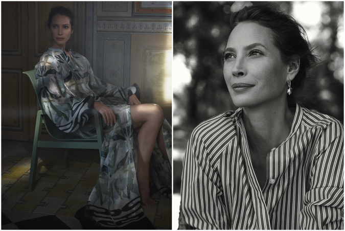 Modelka Christy Turlington Burns v kampani H&M Conscious Exclusive 2018