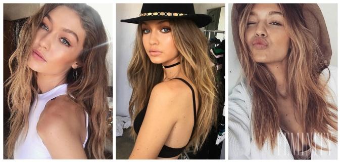 Gigi je predstaviteľkou nového štýlu vo vlasových trendoch a dobrou  inšpiráciou d66eb2d002b
