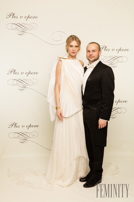 Modelka z agentúry Elite Alexandra Gachulincová je dlhoročná kamarátka s  návrhárom Marcelom Holubcom a na Plese 75da7596697