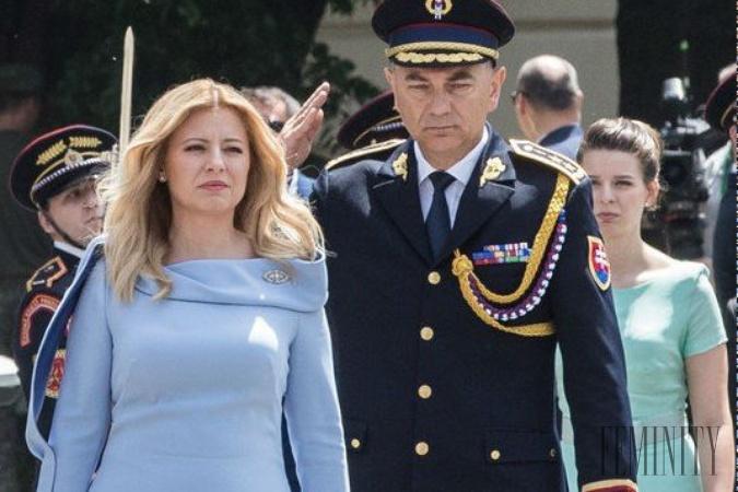 b8c4a1055 Prvá prezidentka Slovenskej republiky Zuzana Čaputová mala na sebe model z  dielne Borisa Hanečku