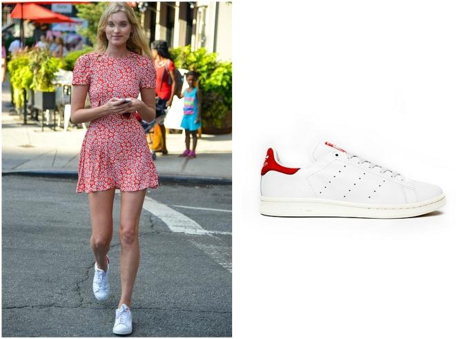 30cd8d42d5ac Topmodelka Elsa Hosk miluje kombináciu kvetinových šiat a bielych tenisiek