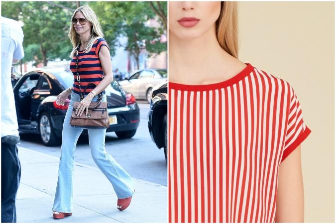 932c0b61badb Pásikavé tričko s červenou farbou vyzerá naozaj cool