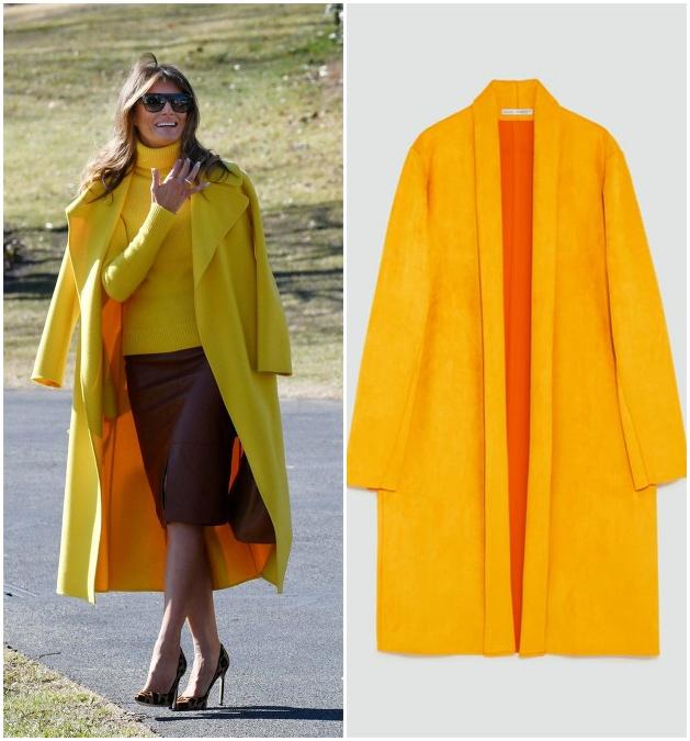 18f69d710547 Prvá dáma USA Melania Trump obmieňa svoj šatník do jarných farieb ...
