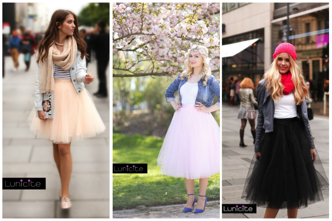 Obľúbili ste si tylové sukne  Ponúkame zopár tipov ako ich nosiť ... b7906a1cfd1