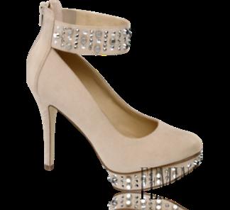 1ba34c7cfeb7 Telové sandáliky so zdobeným remienkom sú ako stvorené na výnimočné večerné  udalosti